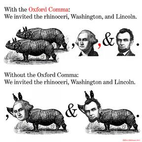 Oxford Comma-Copyright Eric Edelman 2001