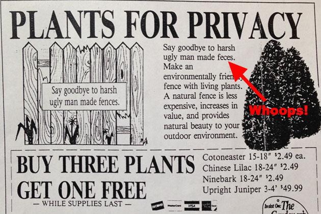 fences not feces