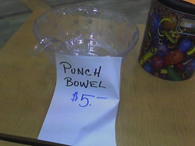 punch bowl not punch bowel