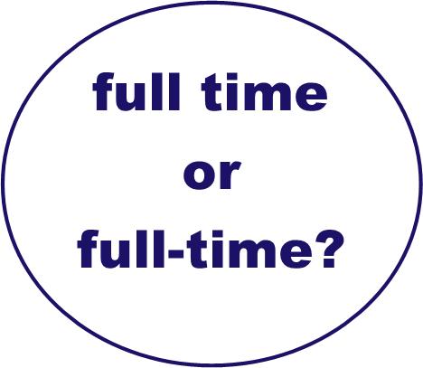 full time or full-time?