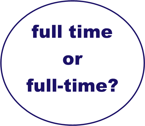 full time or full-time?
