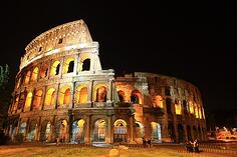 the Roman Colesseum