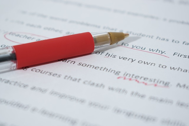 proofreading corrections